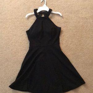 Speechless Juniors Haltered Black Formal Dress